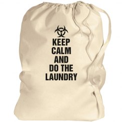 Keep calm laundry bag