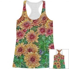 Young womens floral tank top