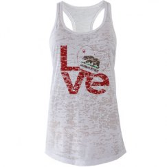 Distressed CA LOVE Top