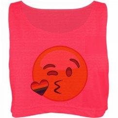 Kiss me rainbow shirt for girls