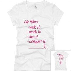 60 Miles 4 R Cure-Jr V-neck