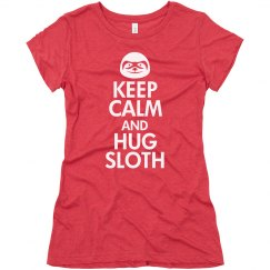 Keep Calm Hug Sloth