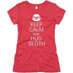 Keep Calm Hug Sloth