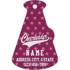 Cheer Megaphone Bag Tag