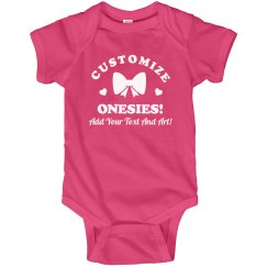 Custom Text Mother's Day Onesie