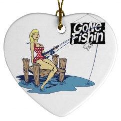 Fishing Christmas Ornamen