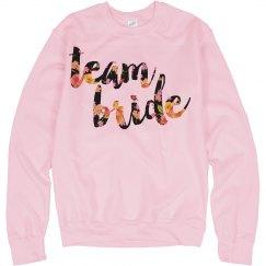 team bride sweater