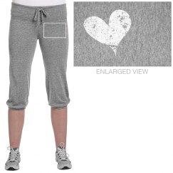 Heart Cropped Sweatpants