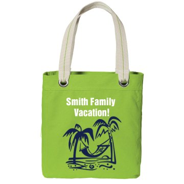Family Vacation Beach Bag