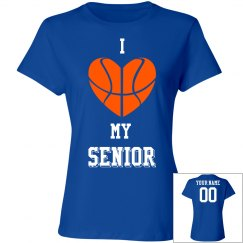 Custom I love my senior basketball tshirt