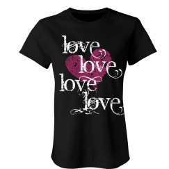 Love Hearts Text Tee