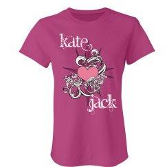 Kate & Jack Compass Heart