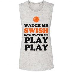 Cute Basketball Watch Me Swish