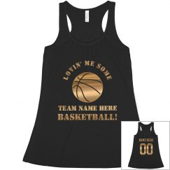 Bling Basketball Mom Metallic Ball