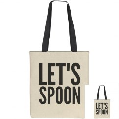Let's Spoon Tote Bag