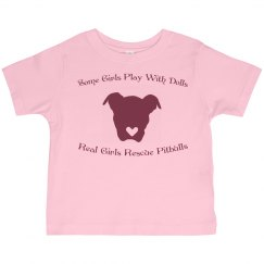 Toddler Girl Pitbull Rescue Tee