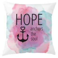 HOPE Anchor Pillow Cover