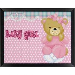 Baby Girl Plaque