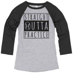 Straight Outta Softball Practice