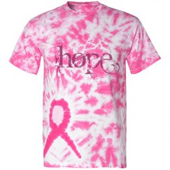 Hope Tiedye Pink Ribbon Shirt