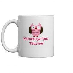 PInk Owl Kindergarten Mug