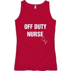 Off duty nurse