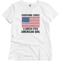 Green Eyed American Girl