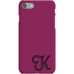 Custom K Monogrammed Case