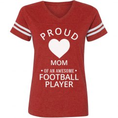 Proud football player mom