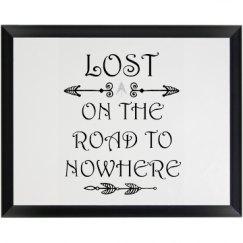 Lost Wooden Plaque
