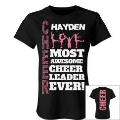 Hayden cheer shirt