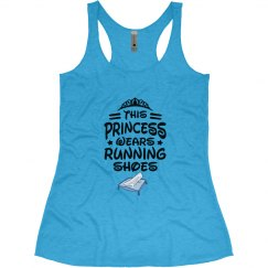 This princess wears running shoes tank