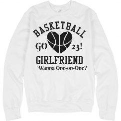 Cute Trendy Basketball Girlfriend With Custom Number