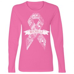 Pink Breast Cancer Charity Design With Custom Name