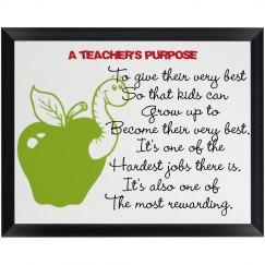 Teachers Plaque