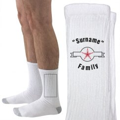 Socks with family name