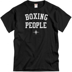Boxing people