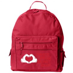 Custom Name Loves to Dance Small Kids Backpack