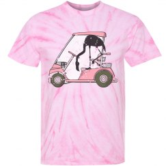 Funny Flamingo Golf Cart