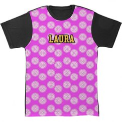 All Over Print Tshirt Hot Pink