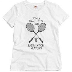 Eye for Badminton Player