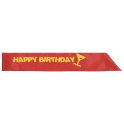 Happy Birthday Sash