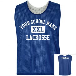 Custom Lacrosse Pinnie With Name On Back