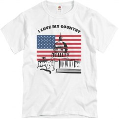 Love my contry tee-shirt