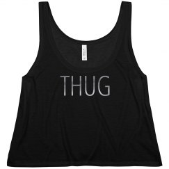cute thug metallic crop top
