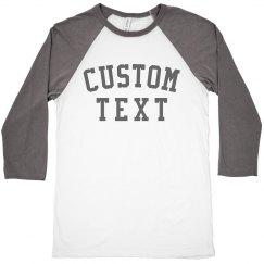 Customizable Trendy Raglan Crop