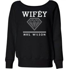 Custom Wifey Rhinestone