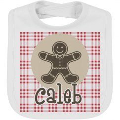 Gingerbread man bib