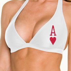 ACE OF HEARTS SWIM TOP