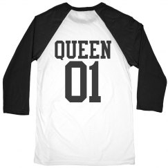Matching King Queen Raglan Girl